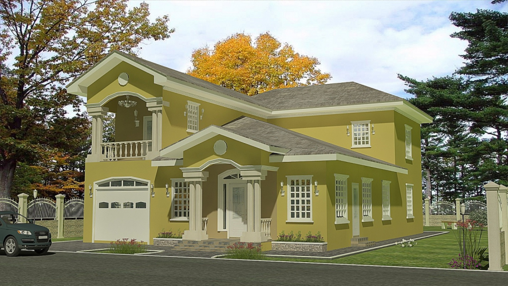 Trinidad house plans escortsea for Trini homes